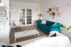 scandinavian  modern living white room