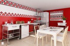 Czerwona kuchnia - zdjęcie od deKEA Polska - Kuchnia - Styl Rustykalny - deKEA Polska