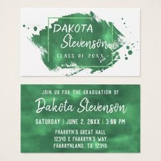 Gold Graduation Modern Brushstroke Grad Party Invitation Belly Band - Graduation party invitations ideas