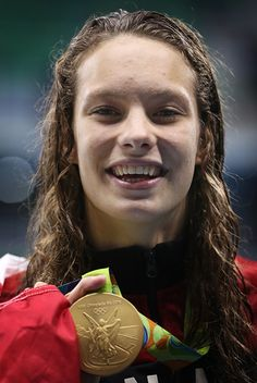 Penny Oleksiak of Canada wins Gold in the Women's Freestyle Final on Day 6 of the Rio 2016 Olympic Games at the Olympic Aquatics Stadium on. Rio Olympics 2016, Summer Olympics, Olympic Sports, Olympic Games, Rio 2016 Pictures, O Canada, World Of Sports, Track And Field, Female Athletes