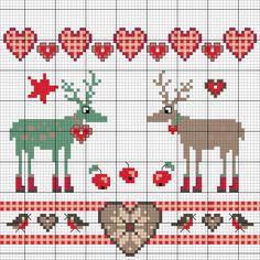 Motive für Weihnachten - Entdecke hier dieses Motiv und zahlreiche weitere kostenlose Charts, Stickvorlagen und Step-by-Step Anleitungen zum Sticken.