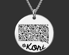 South Dakota Personalized Necklace | South Dakota State