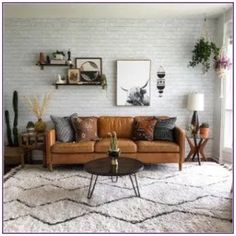 Monday vibes ✨ had my first sighting of the neighborhood foxes tonight and I'm so thrilled they are back this spring! Boho Living Room, Home And Living, Living Room Wall Shelves, Living Room Wall Decor Ideas Above Couch, Living Room With Plants, Midcentury Modern Living Room, Living Room Walls, Loving Room Decor, Vintage Modern Living Room