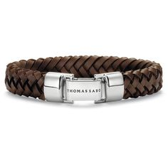 Brown Leather Bracelet w - Folding Silver Clasp