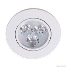 Embutido de alumínio de LED bivolt 6W quadrado luz neutra Bronzearte - Telhanorte