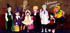 NARUTO SHIPPUDEN, Fan art, Halloween Costume, Shikadai, Inojin, Himawari, Boruto, Mitsuki, Sarada, Chouchou