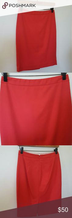 """J.Crew Pink No. 2 Pencil Skirt 00 XS J.Crew No. 2 Pencil skirt.  Size 00, or women's XS.  Hidden back center zip, back center vent.  Pink dark salmon color.  Perfect spring and summer work skirt!  Pair with a flowy blouse and heels for the office. Measures 26"""" waist, 33"""" hip, 20"""" length.  Hits at knee, fits at waist. Excellent used condition, only dry cleaned! J. Crew Skirts Pencil"""