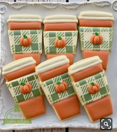 likes · 14 talking about this. Tricia Zunino - Cookie Artist **Currently not taking custom orders** LOCAL ORDERS ONLY. Thanksgiving Cookies, Fall Cookies, Cut Out Cookies, Cute Cookies, Holiday Cookies, Onesie Cookies, Turkey Cookies, Coffee And Donuts, Coffee Cookies