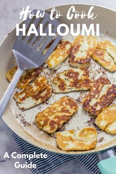 This halloumi bake perfectly combines the healthy freshness of vegetables with the chewy, salty halloumi for a delicious vegetarian dinner. dinner halloumi How to Cook Halloumi: A Complete Guide + Halloumi Recipe Ideas Hallumi Recipes, Greek Recipes, Curry Recipes, Veggie Recipes, Appetizer Recipes, Vegetarian Recipes, Cooking Recipes, Healthy Recipes, Cooking Hacks