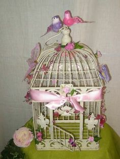 cage oiseaux - Urne Mariage Cage