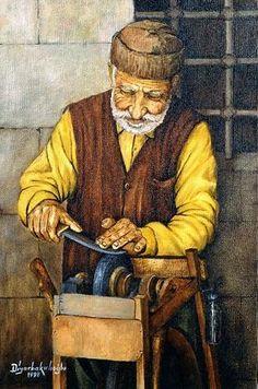 1998 - by painter Mehmet Ali Diyarbakırlıoğlu Art Village, Iranian Art, Turkish Art, Arabic Art, Art For Art Sake, Egyptian Art, Easy Paintings, Art World, Sculpture Art
