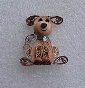 Quilled Dog Ornament by Melinda Fabian