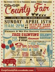 While I enjoy the fonts and color scheme for this flyer, the proximity could be greatly improved. - Trend Design Home App 2019 County Fair Theme, County Fair Birthday, County Fair Decorations, County Fair Crafts, Country Fair Party, Grand Opening Invitations, School Fair, School Carnival, Harvest Party