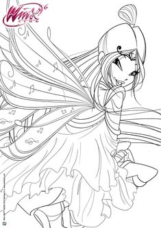 Beautiful Winx Club Flora Coloring Pages