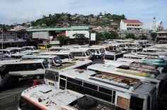 Manado, Bus terminal, Sulawesi, Indonesia, Indonesien