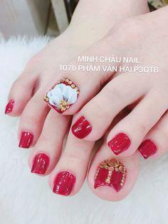 Chân Fancy Nails Designs, Nail Art Designs Videos, Pedicure Designs, Pedicure Nail Art, Toe Nail Designs, Toe Nail Art, Shoe Nails, Feet Nails, 3d Nails