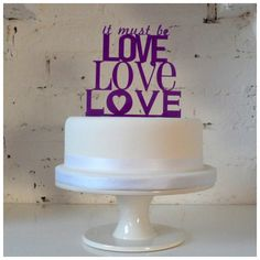Fun Song-Title Cake Toppers