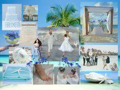 Beach wedding idea - A wonderful seaside affair moodboard #beach #wedding #moodboard