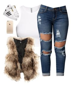 """"" by prettygirlnunu ❤ liked on Polyvore featuring H&M and adidas"