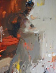 """Saatchi Art Artist Iryna Yermolova; Painting, """"Strap"""" #art"""