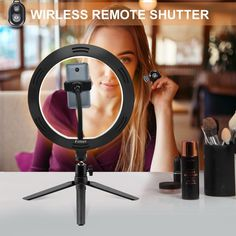 10 Inch 26cm Ring Light With Stand Rovtop Led Camera Selfie Light Ri Outoff In 2020 Camera Selfie Selfie Light Phone Holder