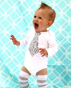 Baby boy tie onesie and leg warmers cute-stuff-for-children