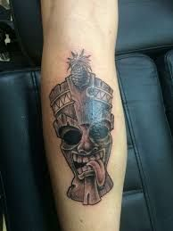 What does tiki tattoo mean? We have tiki tattoo ideas, designs, symbolism and we explain the meaning behind the tattoo. Tattoo Ideas, Tattoo Designs, Design Tattoos, Tiki Tattoo, Hawaiian Tiki, Hawaiian Tattoo, Tattoo Inspiration, Maori, Home