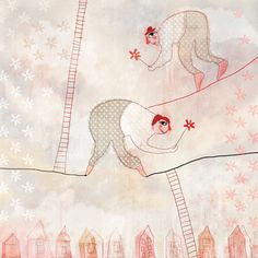 heights illustration, giclée art print Red Cheeks Factory