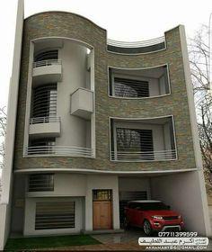 Bungalow House Design, House Front Design, Cool House Designs, Modern House Design, 3d House Plans, House Plans Mansion, Front Elevation Designs, House Elevation, Brick Columns