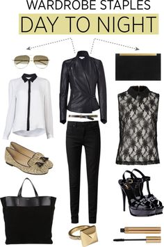 """Day to Night with Wardrobe Staples"" by alaria ❤ liked on Polyvore"