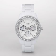 FOSSIL® : Stella Resin Watch - White ES1967