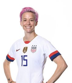 Megan Rapinoe #15, USWNT, Official FIFA Women's World Cup 2019 Portrait Fifa 15, Megan Rapinoe, Fifa Women's World Cup, Team Usa, Role Models, Polo Ralph Lauren, Soccer, Football, Portrait