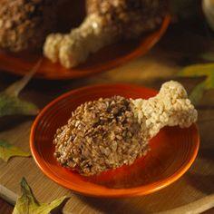 Thanksgiving \  Drumstick Rice Krispies Treats
