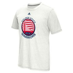 Men's Golden State Warriors adidas White Hoops For Troops climacool Aeroknit T-Shirt
