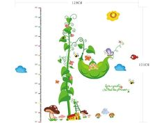 Jack and the Beanstalk Inspired Height Measurement Decal for a Child's Room...An Adorable Way to Keep Track of Your Little One's Growth :)