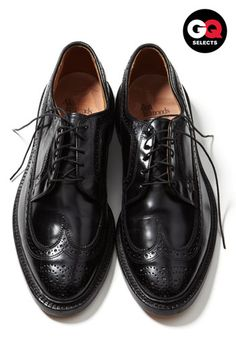 Allen Edmonds 'MacNeil' Oxford - A black wingtip is one of the most worthwhile and elegant shoes a man can have in his wardrobe.
