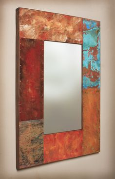 41 x 305 Metal and Copper Mirror by paulrungstudio on Etsy, $485.00