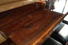 CUSTOM Live Edge Restaurant Style Dining Table Top by Teraprom