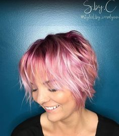 Short Choppy Pastel Pink Hairstyle