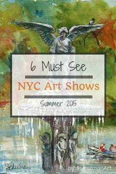 New York art shows summer 2015 http://schulmanart.blogspot.com/2015/06/summer-bucket-list-6-must-see-nyc-art.html