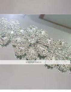 Новые свадебные аксессуары ремень алмаз роскошный алмаз аппликация платье вечера пояса ручной работы DIY материалы - Taobao
