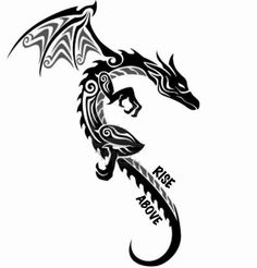 """Tribal Dragon Tattoo.First Tattoo?This Dragon Represents My Taiwanese Culture/My """"Rise Above"""" Self. Also,It'll Always Remind Me Where I Came From.Thinking About Putting This On My Left Back Shoulder Blade.Near My Heart And My Ring Finger. (Design #2)"""