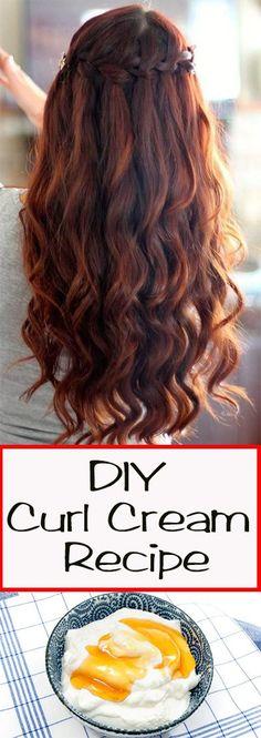 DIY Curl Cream Recipe  #haircare #diy #curlcream #recipes  #beauty #health