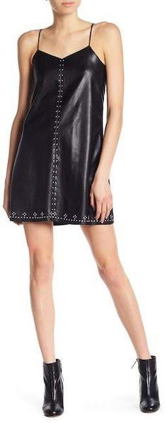 BLANKNYC Denim Studded Vegan Leather Slip Dress Blank Nyc, Nordstrom Dresses, Leather Slip Ons, Vegan Leather, Dress Up, Feminine, Summer Dresses, Denim, Chic
