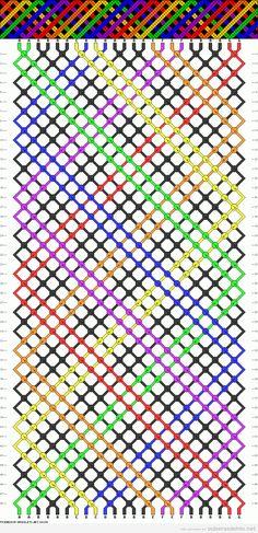 Esquema gratis para hacer una pulsera de hilo zigzag de colores