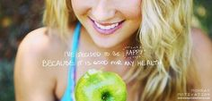 Being happy should be part of your diet!
