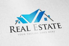 Real Estate logo by vectorlogos89 on Creative Market