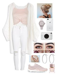 """""""Cindy McCall"""" by random12322 ❤ liked on Polyvore featuring Chicwish, Topshop, DL1961 Premium Denim, NIKE, Kodak, Chanel, IBB and Burberry"""