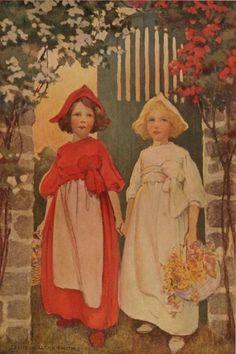 thefeather:    Jessie Willcox Smith's Snow WhiteandRose Red