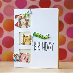 Baby Party Animals for @simonsaysstamp